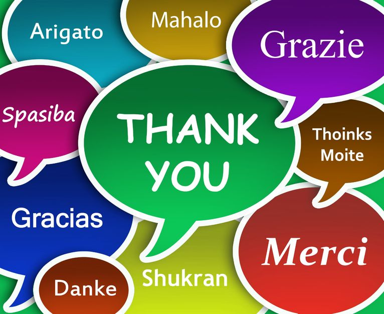 Thank yous in lots of languages