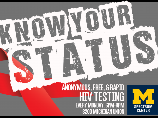 "Photo with text reading ""Know Your Status"""