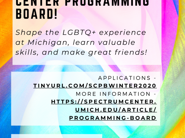 Shape the LGBTQ+ experience, gain valuable skills, and make great friends!