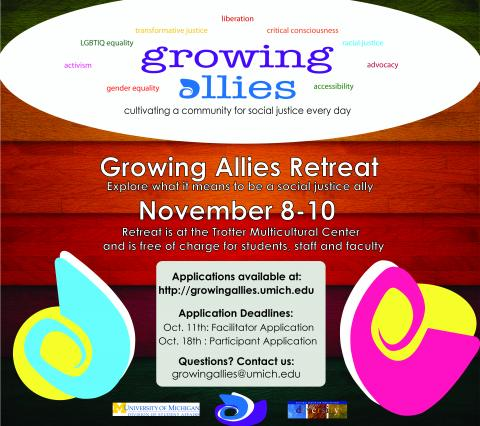 Growing Allies retreat poster