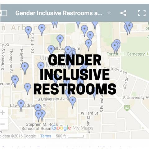 Gender Inclusive Restroom Map Screenshot