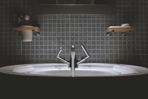 image of restroom sink