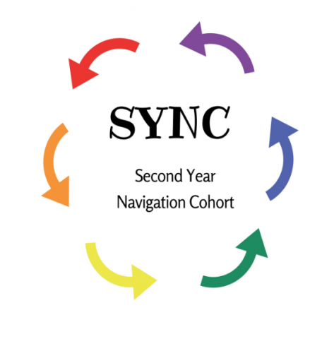 Second Year Navigation Cohort Logo with rainbow arrows