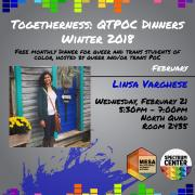 QTPOC Dinners Flyer Linsa Varghese
