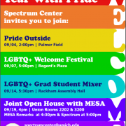 Welcome Week Flyer with Events