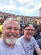 Ted and Dan at UM Football Game